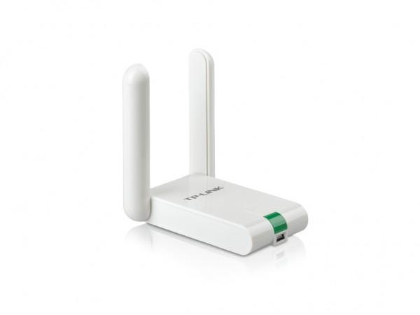 TP-LINK Wi-Fi USB Adapter 300Mbps High Gain, USB kabl, WPS dugme, 2xeksterna antena