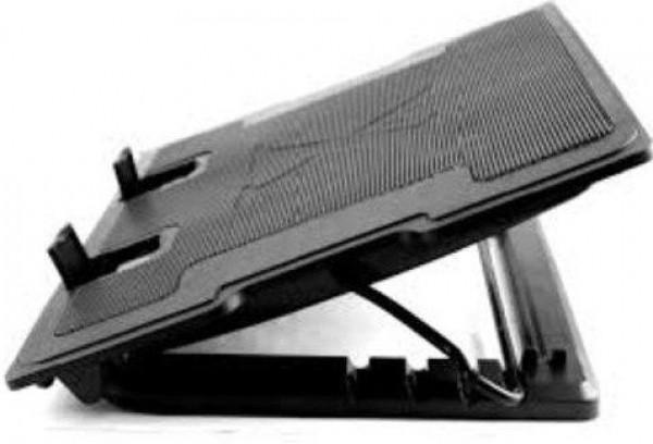 GEMBIRD NBS-2F17T-01  hladnjak za laptop 17\'', 2x10cm LED FAN, 1000rpm, 25CFM, 2x USB, 37x26.5cm,