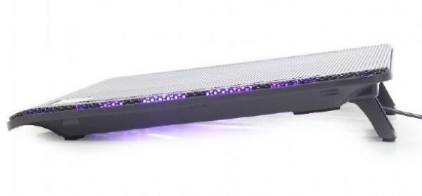 GEMBIRD NBS-2F15-01  hladnjak za laptop, 15.6\'' LED kuler 2kom-120mm, 340x250mm