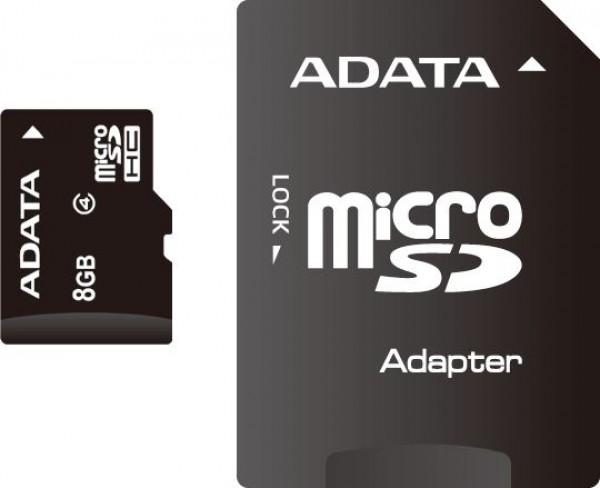 Adata SD MICRO 8GB HC Class4 + 1ad