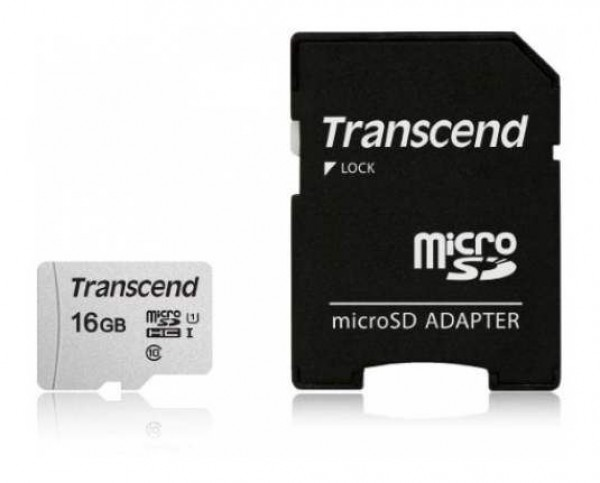 TRANSCEND 16GB sa adapterom TS16GUSD300S-A