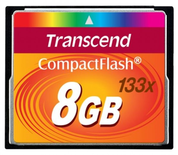 COMPACT FLASH CARD 8GB TRANSCEND TS8GCF133