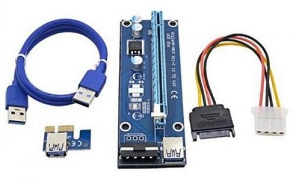 GEMBIRD RC-PCIEX-04  PCI-Express riser add-on card, MOLEX power