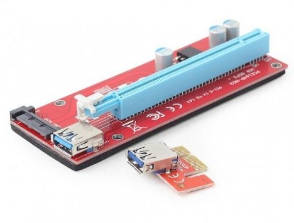 GEMBIRD RC-PCIEX-05  PCI-Express riser add-on card, SATA power
