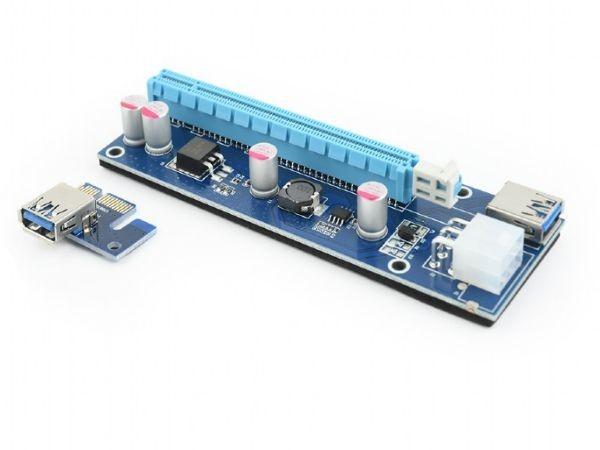 GEMBIRD RC-PCIEX-03  PCI-Express riser add-on card, PCI-ex 6-pin power connector