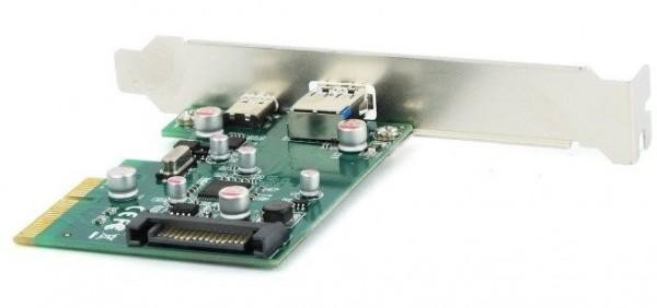 GEMBIRD PEX-U31-01  2-port USB 3.1 PCI-Express add-on card (type-A + type-C)