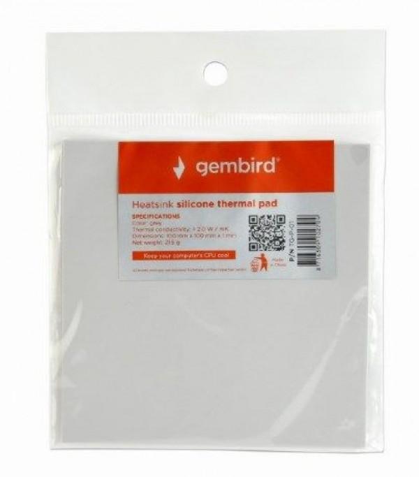 GEMBIRD TG-P-01  Termo podloga za hladjenje CPU/VGA 23g Silver, Therm.cond. 2.0W/m-K, 100x100x1mm