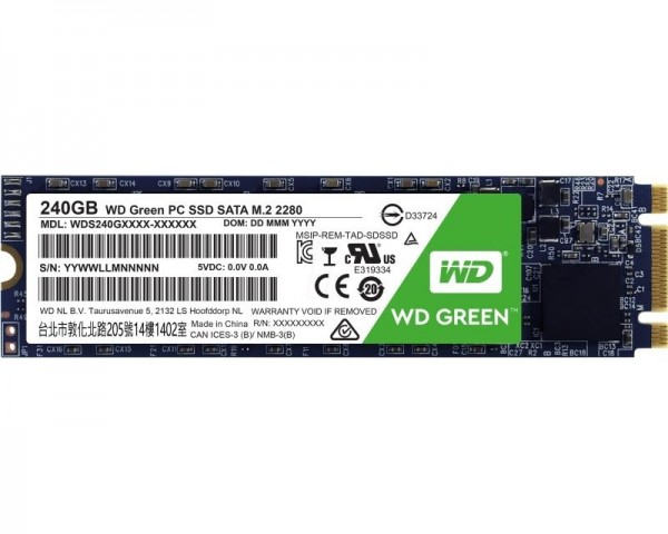 WD 240GB M.2 SATA III WDS240G2G0B Green SSD
