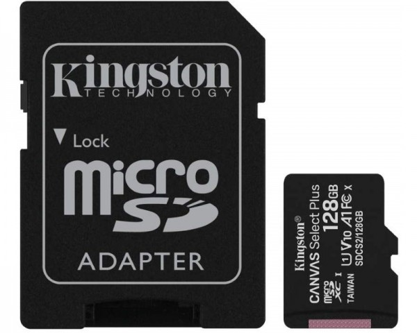 KINGSTON A1 MicroSDXC 128GB 100R class 10 SDCS2128GB + adapter