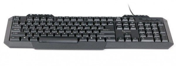 GEMBIRD KB-UM-105  Multimedijalna tastatura US layout black USB