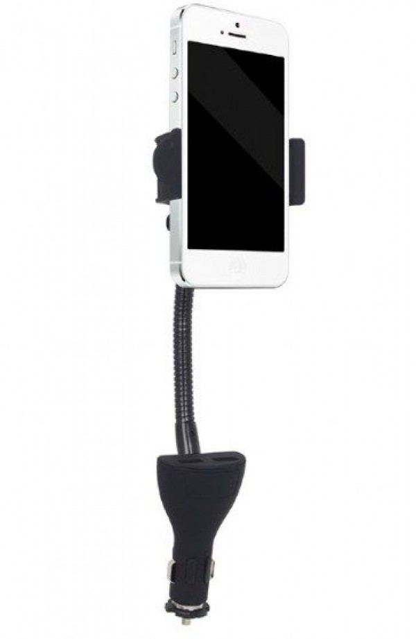 GEMBIRD TA-CHU2  Držač mobilnog telefona za auto sa USB punjacem