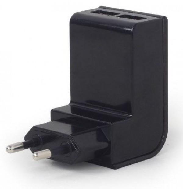 GEMBIRD EG-U2C2A-02  punjac za telefone i tablete 5v 2.1A 2xUSB black
