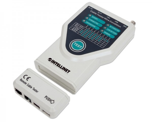 INTELLINET Cable tester 5 in 1 retail Box sivi