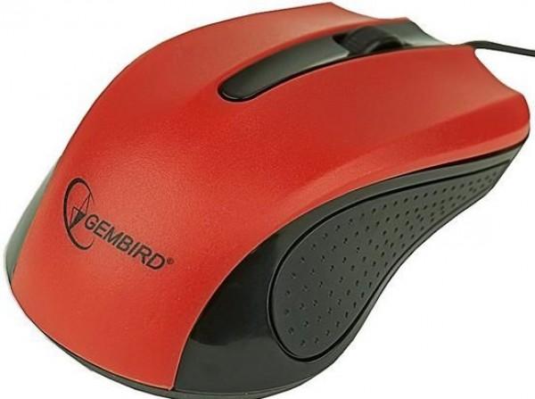 GEMBIRD MUS-101-R  Optički miš 1200Dpi black red USB