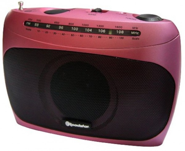 Roadstar tra2295pk tranzistor pink