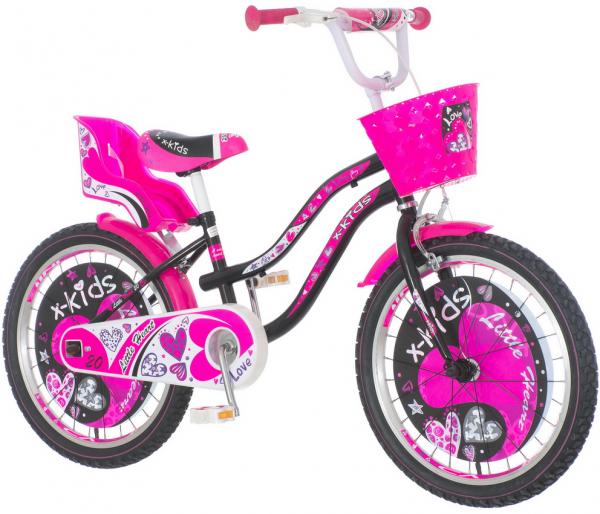VENERABIKE Dečiji bicikl 20''HEA200 Little heart roze + SET