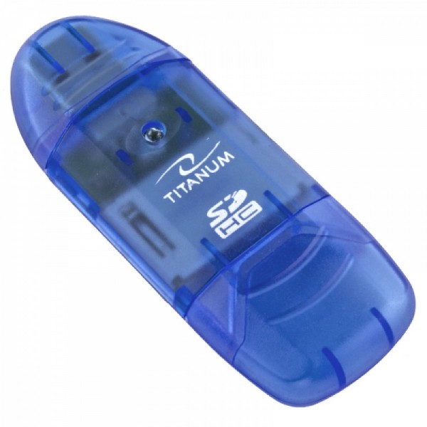 Titanum ta101b univerzalni čitač kartica sdhc usb 2.0 plavi