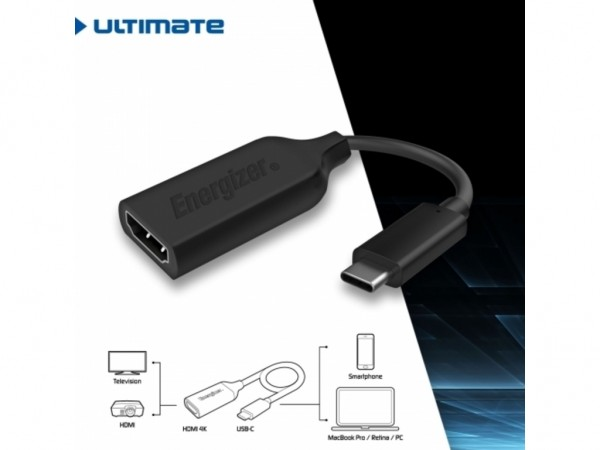 Energizer Ultimate Adapter USB-C to HDMI 4K Black