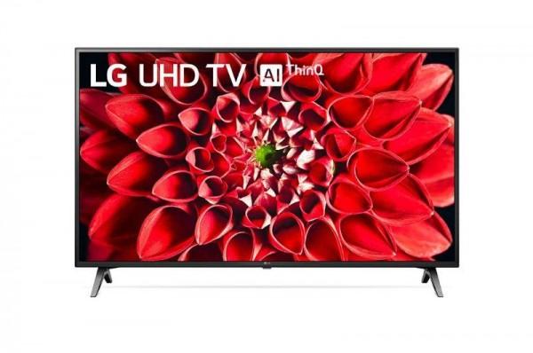 LG 60UN71003LB LED TV 60'' Ultra HD, WebOS ThinQ AI, Ceramic Black, Two pole stand