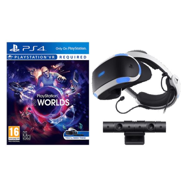 SONY PlayStation VR Starter Pack Headset + Kamera + VR Worlds