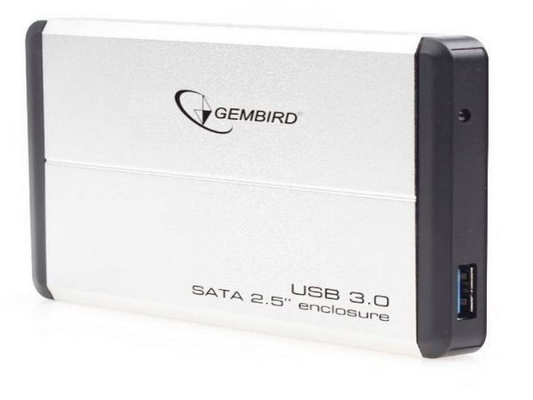 GEMBIRD EE2-U3S-2-S  USB 3.0 Externo kuciste za 2.5\'' SATA hard diskove srebrni (fo)