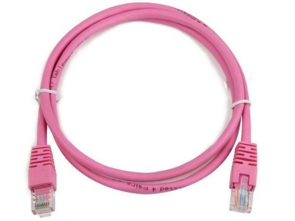 GEMBIRD PP12-0.25M/RO  UTP cat.5E Rose Patch cord molded strain relief 50u\'' plugs, 0,25 m
