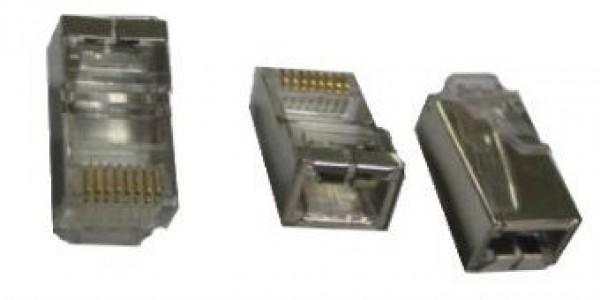 GEMBIRD PLUG5SP  shielded modular 30u gold plated LAN konektor (pakovanje 100 kom)
