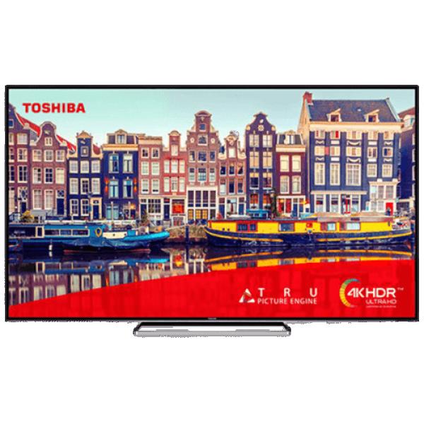Toshiba 75VL5B63DG LED TV 75'', Ultra HD, SMART, DVB-T2CS2, blacksilver, Onkyo sound,  strip stand