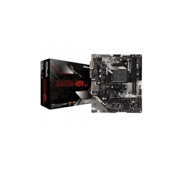 ASRock AMD MB B450M-HDV AM4