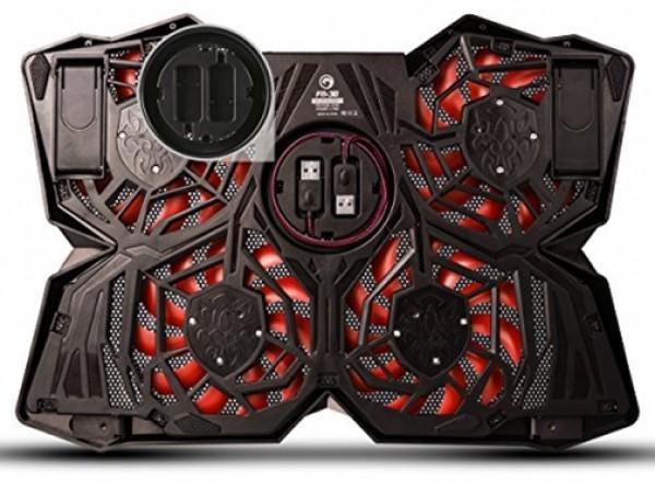 Marvo Hladnjak za laptop 15-17'' FN30 4 ventilatora sa pozadinskim osvetljenjem crno/crveni
