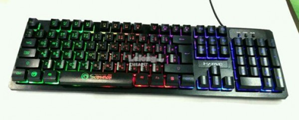 Marvo Tastatura USB K616 gejmerska vodootporna sa LED RGB osvetljenjem crna