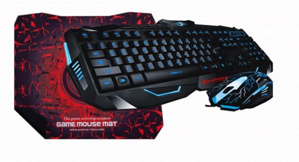 Marvo Set Tastatura+Miš+Podloga USB KM 400+G1 gejmerski set sa pozadinskim osvetljenjem crni