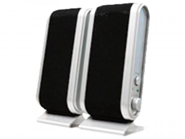GIGATECH Zvučnici USB 2.0 GS-801 snage 2x2W crno/srebrni
