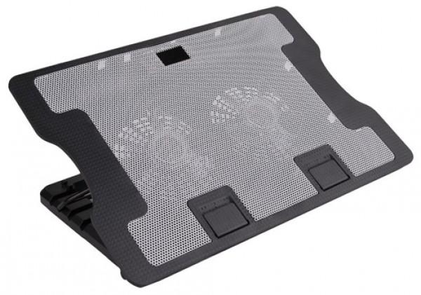 GIGATECH Hladnjak za laptop 15,6'' GLC-F965 1 ventilator sa pozadinskim osvetljenjem sivo/crni
