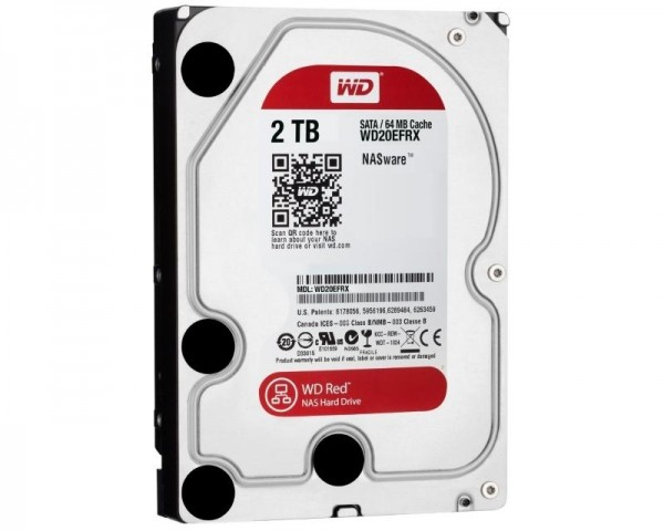 WD 2TB 3.5'' SATA III 64MB IntelliPower WD20EFRX Red outlet