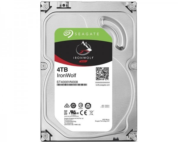 SEAGATE 4TB 3.5'' SATA III 64MB ST4000VN008 IronWolf NAS outlet