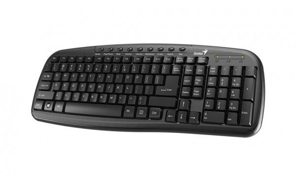 Tastatura USB US Genius KB-M225C Multimedia, Crna