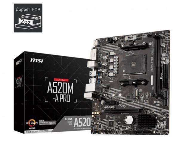 MBO MSI AM4 A520M-A PRO