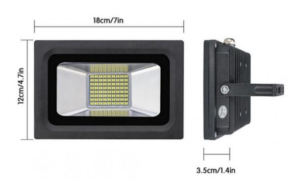 SPECTRA LED relfektor 30W LRSMDA3-30 6500K crni
