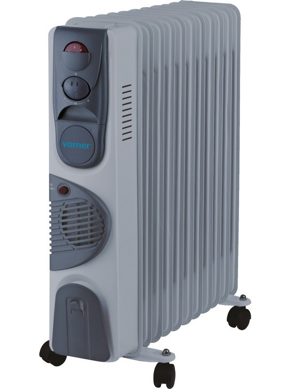 Uljni radijator VORNER - VRF-0437 sa ventilatorom, 2500w+400w