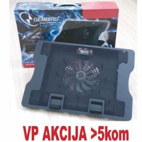 GEMBIRD N2000FS  hladnjak za laptop 15-17\'' 140mm Fan-CONTROL, 2xUSB, 370x265mm, Ergo Stand(687)
