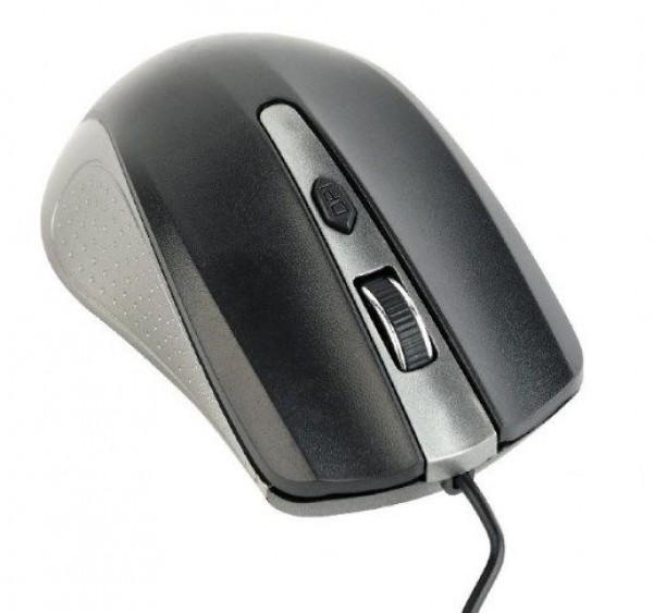 MUS-4B-01-GB Gembird Opticki mis 800-1200Dpi 4-button spacegrey/black USB