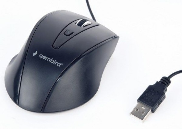 MUS-4B-02 Gembird Opticki mis 800-1200Dpi 4-button black USB