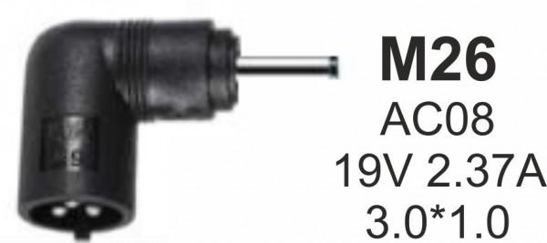 NPC-AC08 (M26) Gembird konektor za punjac 65W-19V-2.37A, 3.0x1.1mm