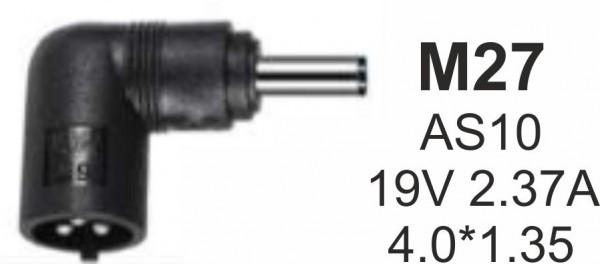NPC-AS10 (M27) Gembird konektor za punjac 45W-19V-2.37A, 4.0x1.35mm