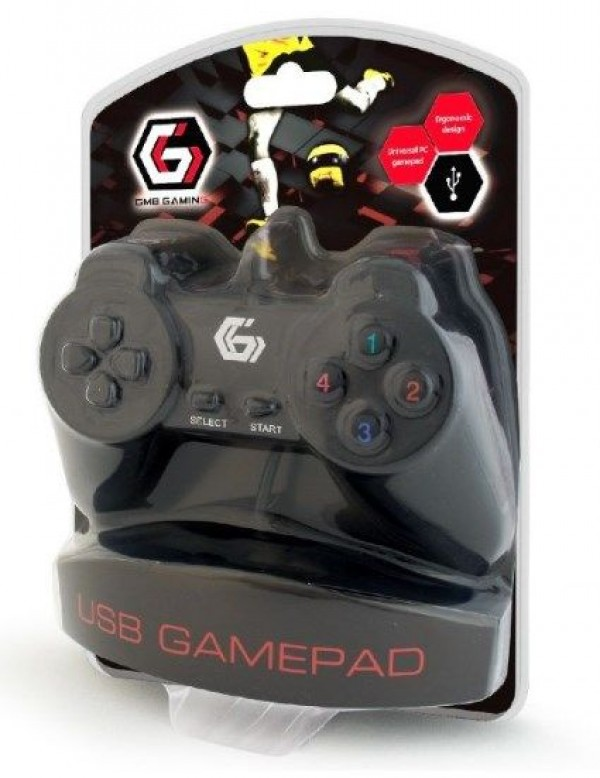 JPD-UB-01 ** Gembird USB 2.0 digital gamepad black (207)
