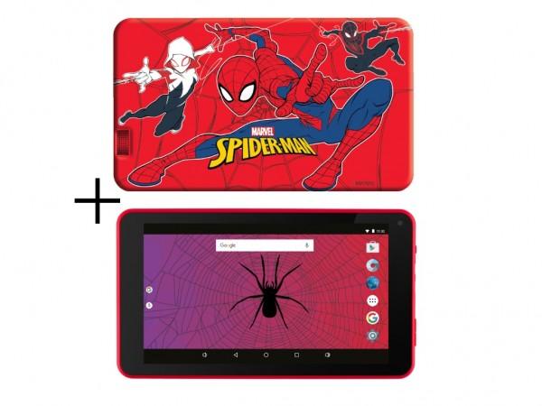 eSTAR Themed Tablet Spiderman 7399 7'' ARM A7 QC 1.3GHz2GB16GB0.3MPWiFiAndroid 9 Spider Futrola