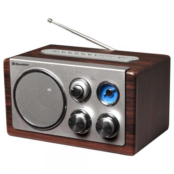 Roadstar hra1345wd radio sa drvenim kucistem usb/sd/mmc