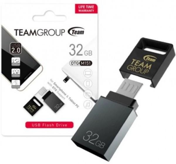 TeamGroup 32GB M151 USB 2.0 + microUSB GRAY TM15132GC01