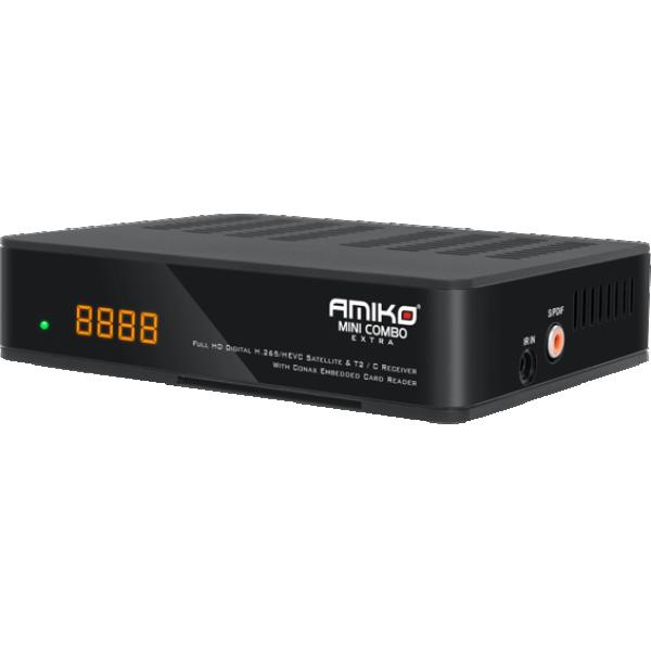 DVB Mini combo DVB-S2+T2/C, HEVC/H.265, Full HD,USB PVR,LAN